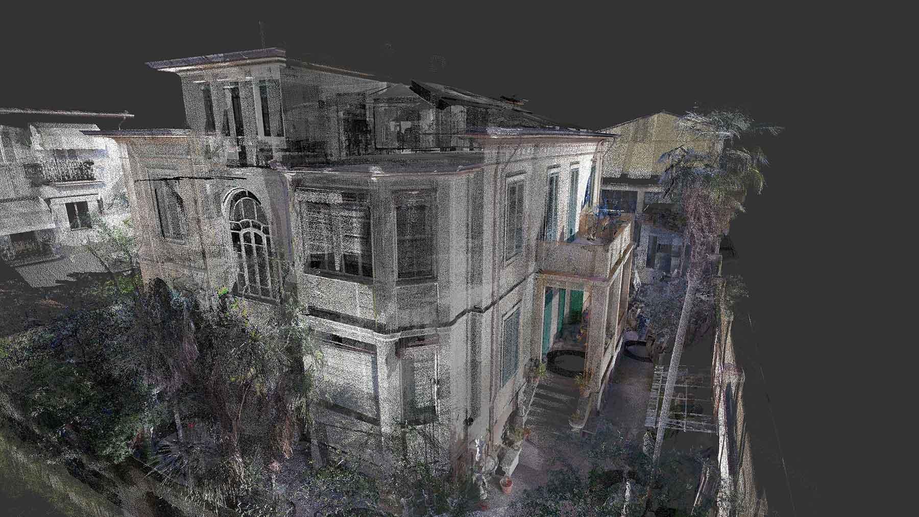 Rilievo laser scanner 3D - Villa liberty di proprietà privata a Pietrasanta (LU)